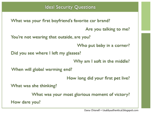 ideal security questions spool