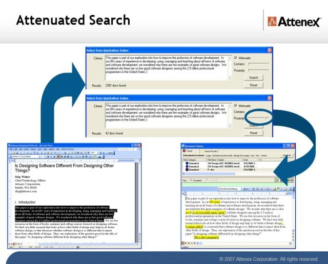 Attenuated Search
