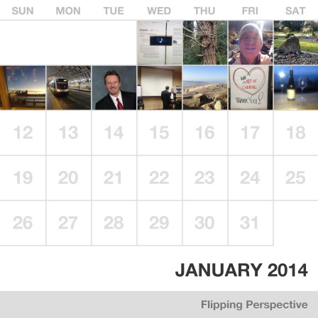 flipping perspective january calendar