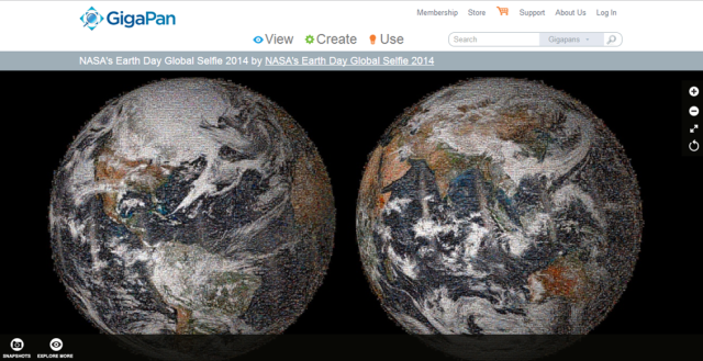 NASA global earth selfie