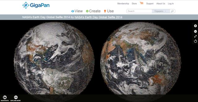 NASA global earth selfie