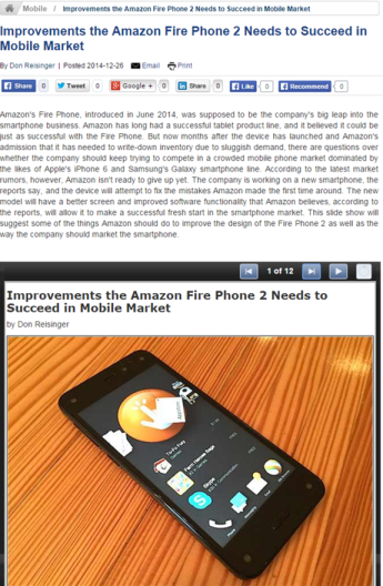 Fire Phone 2 Needed Improvements